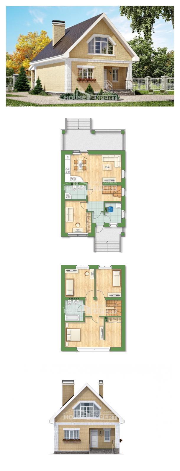 Проект дома 130-004-П   House Expert